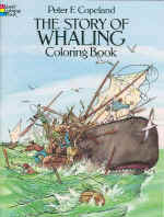 【BOOKS】The Story of Whaling Coloring Book by Peter F. Copeland/書籍・新聞雑誌/海外版/絵本・色彩