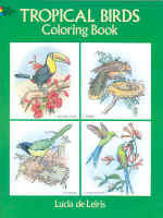 【BOOKS】Tropical Birds Coloring Book by Lucia de Leiris/書籍・新聞雑誌/海外版/絵本・色彩
