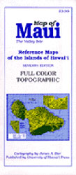 【BOOKS】Map of Maui Reference Maps of the Islands of Hawaii - 7th by James A. Bier/書籍・新聞雑誌/海外版/幼児・子供