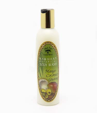 【Island Soap & Candle Works】HAWAIIAN BOTANICAL BODY WASH MANGO COCONUT GUAVA 8.5oz/コスメ・アロマ/コスメ/ソープ・石鹸