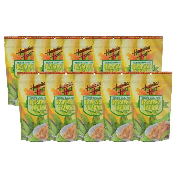 製菓品/ PREMIUM BANANA CHIPS / BANANA TWIST 10袋セット